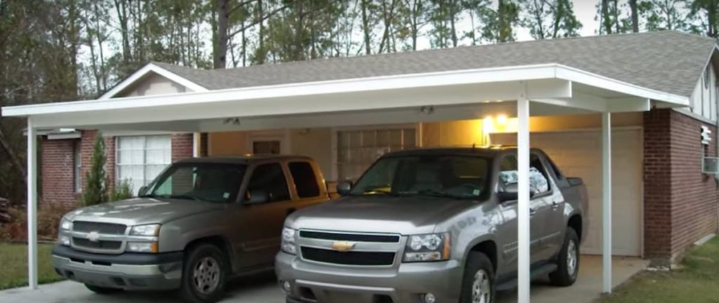 a house with a carport