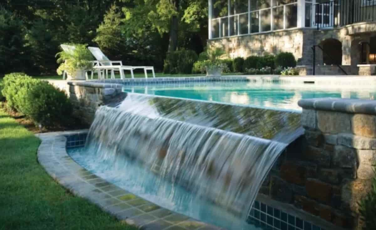 concrete around a pool