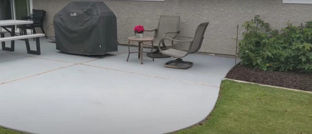 painted concrete driveway