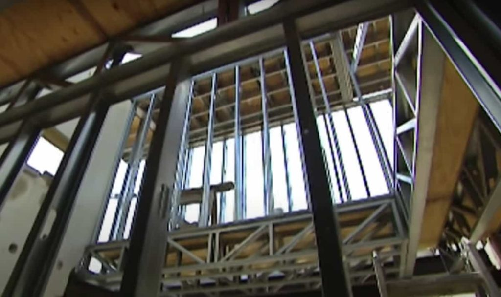 steel frame of a new house build