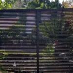 A Dark Grey Aluminium Fence