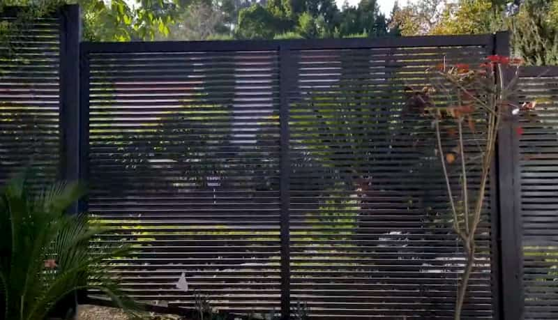 A Dark Grey Aluminium Fence