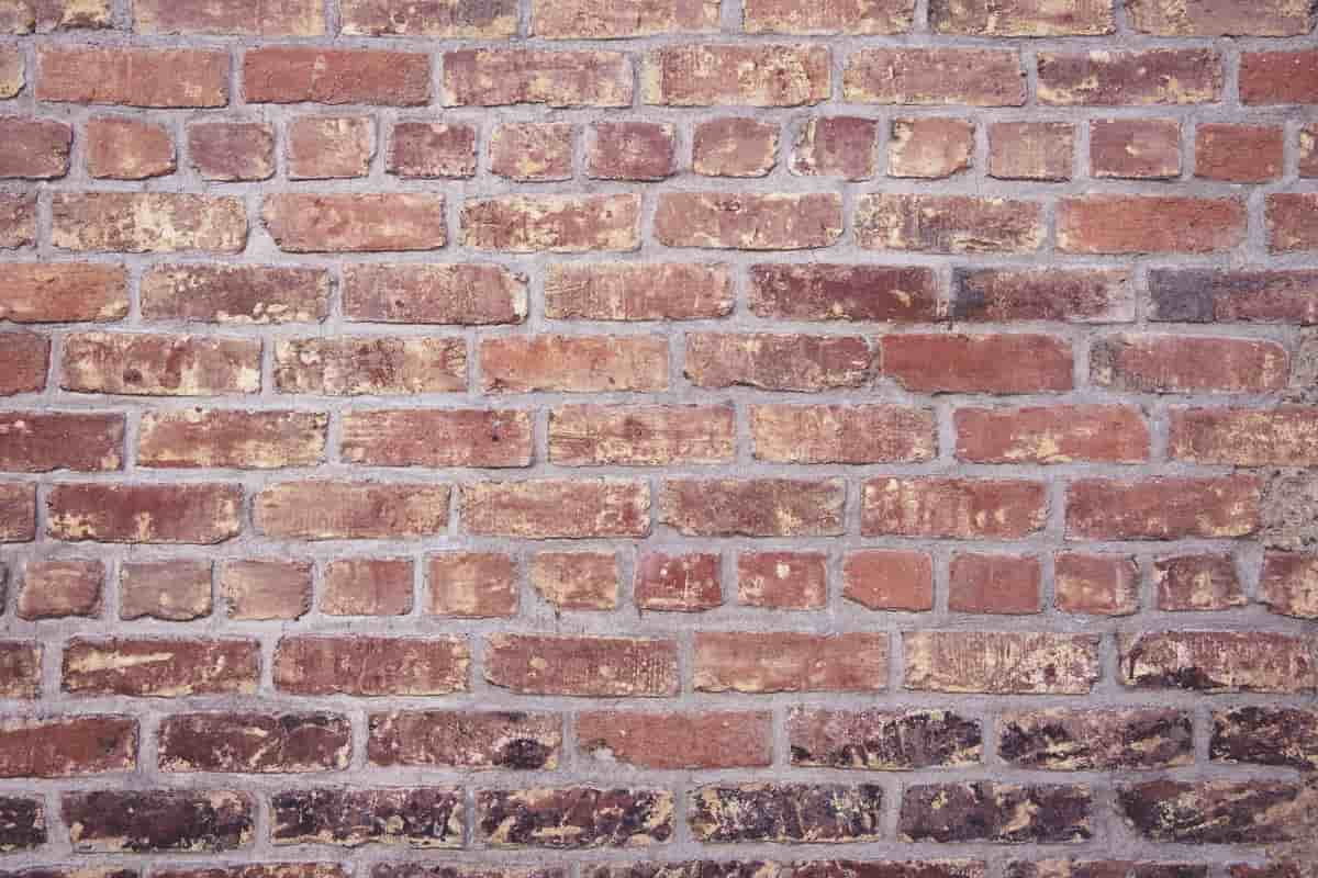 Bricks on house
