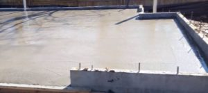 Concrete Slab Foundation for a House