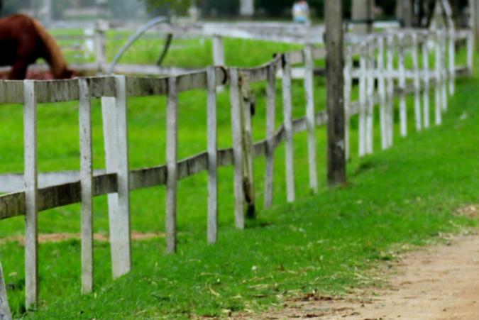 Fence on a farm in Australia