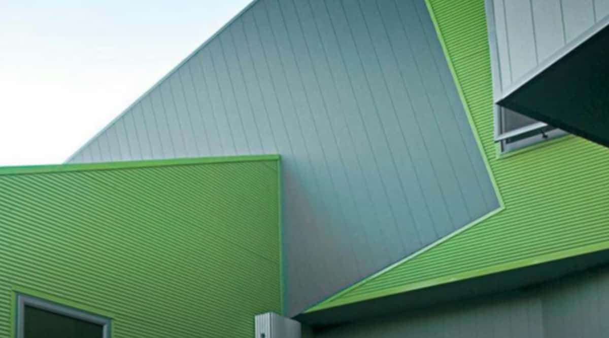 Fibre Cement Cladding of a Green House in Australia