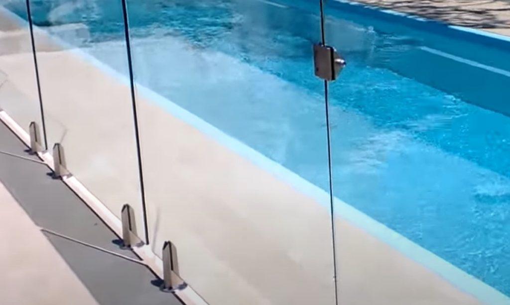 Frameless glass pool fence in Sydney