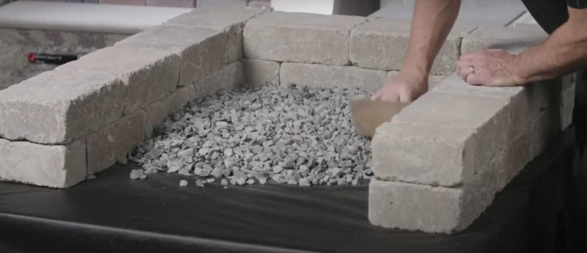 gravel base for concrete