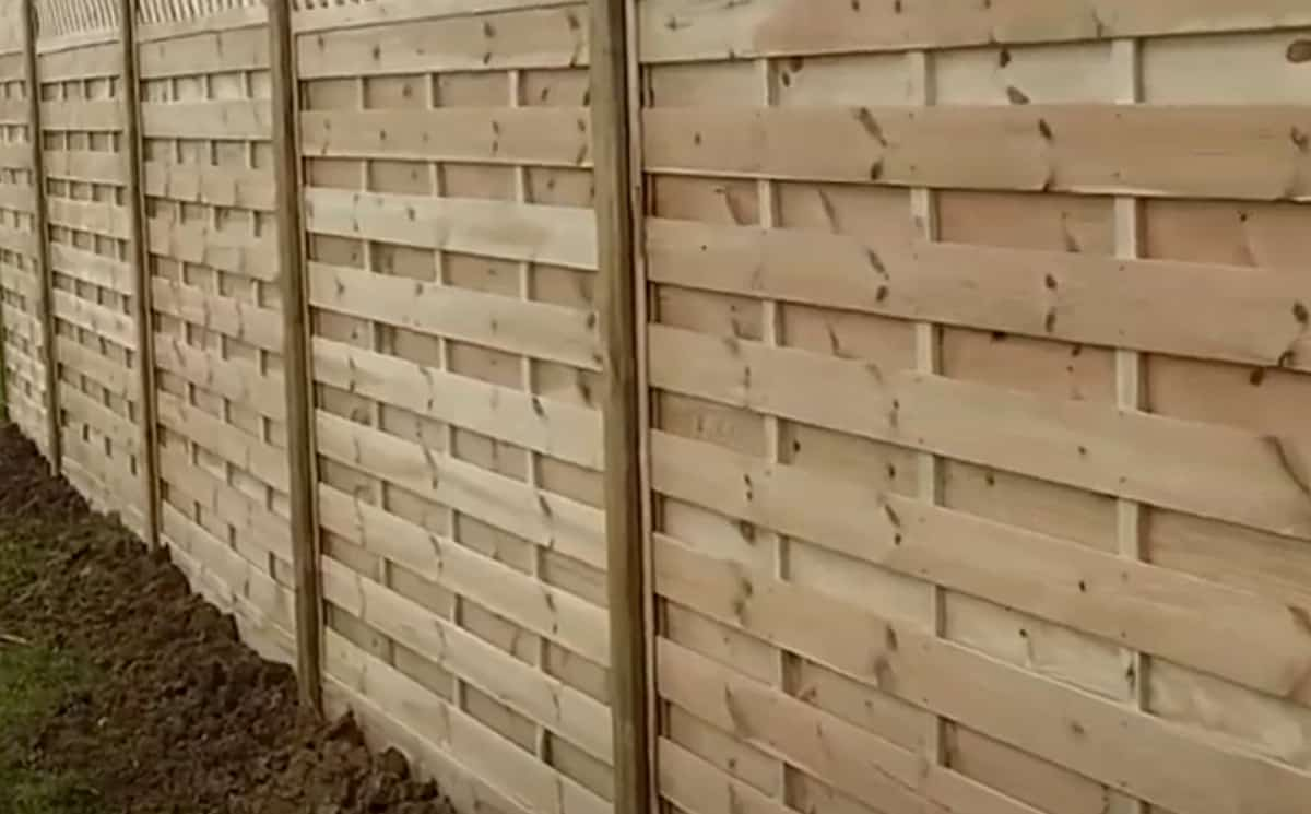 Paling fence installed in Australia