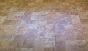 Vinyl flooring brown square title design in Australia