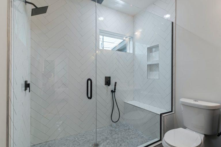 Waterproofed Shower