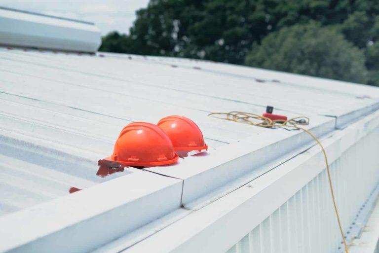 White roof Gutter